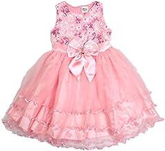 Big Girls Cute Princess Party Prom Mesh Bow Lace Tutu Dress Pink
