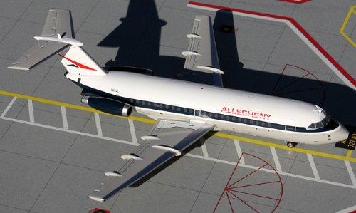 1: 200 ジェミニジェット Allegheny Air BAC111-200 Old Colors (並行輸入)