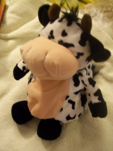 Best Made Black and White 13 Cow Plush Stuffed - 1