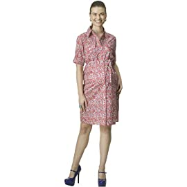 Rosie Pope Maternity Liberty Pocket Front Shirt Dress