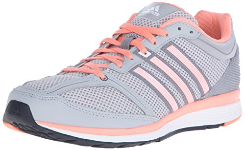 Adidas Performance Women's Mana RC Bounce Running Shoe,Clear Onix Grey Grey/Sun Glow Yellow/Grey,8 M US