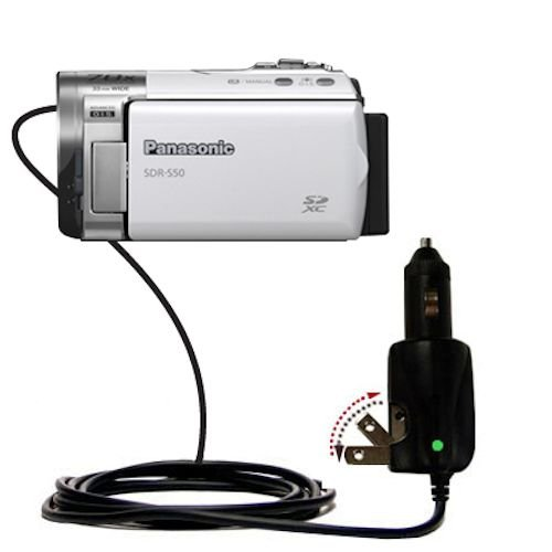 Intelligent Dual Purpose Dc Vehicle And Ac Home Wall Charger Suitable For The Panasonic Sdr-S50 Video Camera - Two Critical Functions, One Unique Charger - Uses Gomadic Brand Tipexchange Technology
