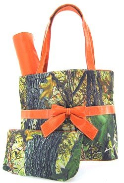 Camo Camouflage Tote Purse Diaper Bag Orange (Orange) - 1