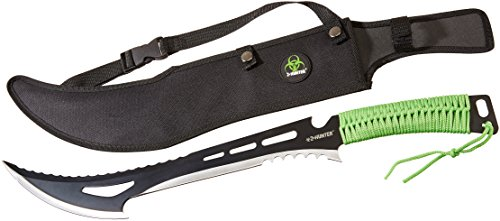 Z-Hunter ZB-020 Zombie Killer Machete, Two-Tone Full Tang Blade, Green Cord-Wrapped Handle, 23-3/4-Inch Overall (Master Cutlery Zhunter compare prices)