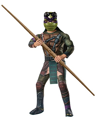 Kid's Teenage Mutant Ninja Turtles Deluxe Muscle Chest Donatello Costume Bundle