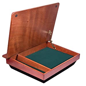 LapGear 45075 Wood Schoolhouse Lapdesk with Storage Compartment