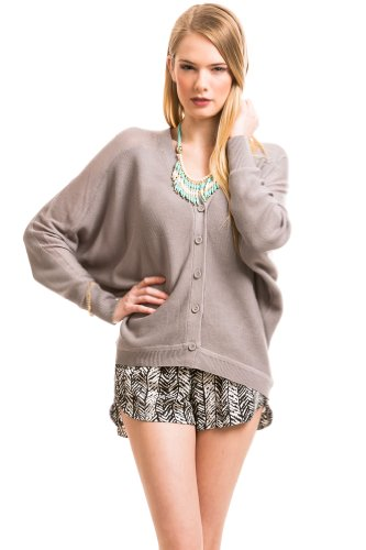 Thermal Cardigan in Grey