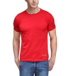 AWG Men's Jersey Round Neck Dryfit T-shirt - Red - AWGDFT-RD-L