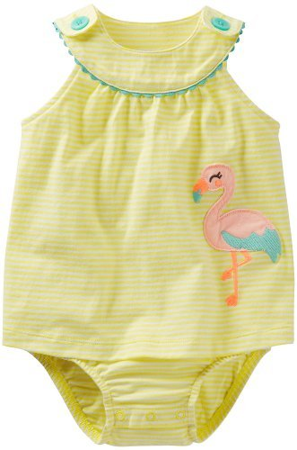 Carter's Baby Girls Sunsuit (24 Months, Yellow Stripe) Color: yellow stripe Size: 24 Months NewBorn, Kid, Child, Childern, Infant, Baby - 1