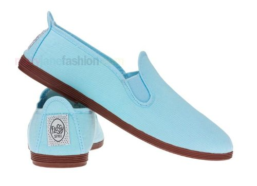 Womens Ladies Flossy Slip on Canvas Plimsolls