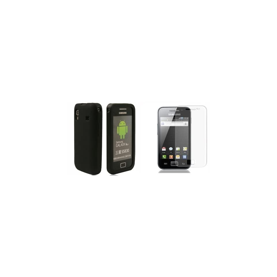 Mobile Palace  black Silicone Skin case cover for Samsung