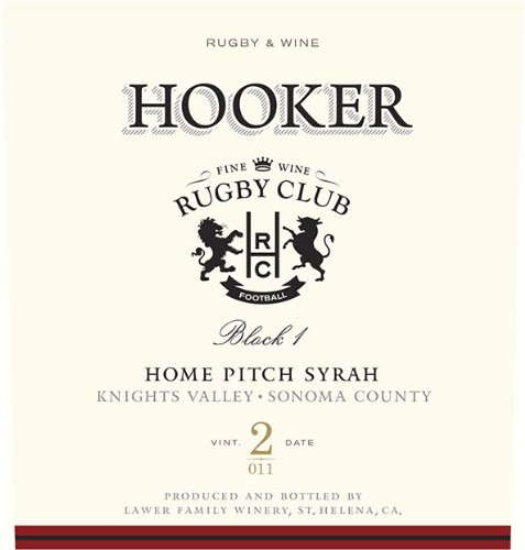 2011 Lawer Family Hooker 'Home Pitch' Syrah Napa Valley 750 Ml