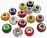200pc Lot, Glass Lampwork Murano European Style Beads Mix
