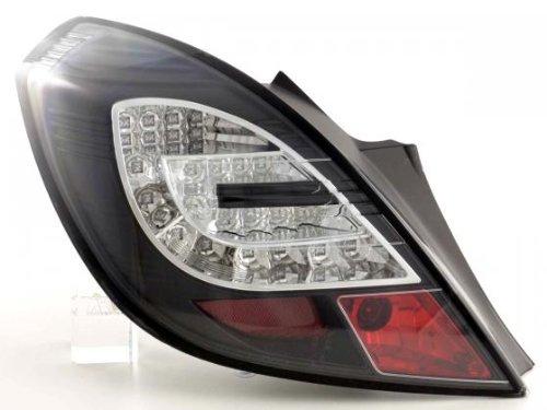 Led Taillights Opel Corsa D 3-Door Yr. 06-10 Black