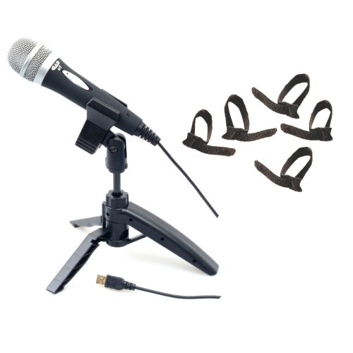 Cad U1 Usb Recording Microphone With Tripod Stand With 5 Bonus Velcro Cable Ties
