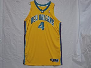 #4 David Wesley 2004-05 New Orleans Hornets Game Worn Jersey by Reebok