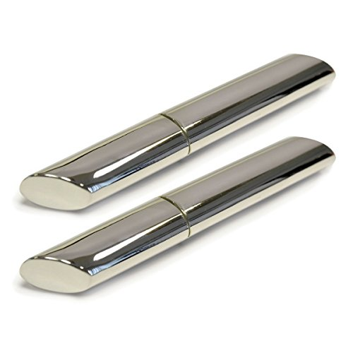 2 silver plated toothpick holders portable case containers purse pocket travel health beauty - Portable toothpick holder ...