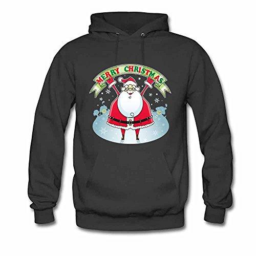 Santa Claus Merry Christmas Men's Hoodies M