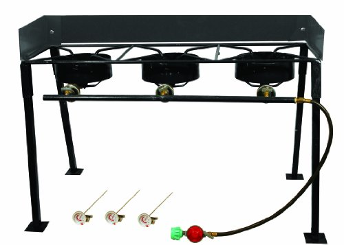 King Kooker CS42 Portable Propane 54,000-BTU Triple-Burner Outdoor Camp Stove (Propane Fryer Burner compare prices)