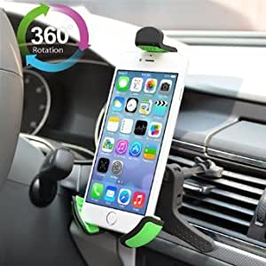 Cell Phone Car Mount, InRich Universal 360° Car Air Vent Mount Smartphone Holder Cradle for iPhone, Samsung, Android Mobile Phones and More - IRCM5