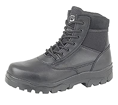 Mens/Boys Combat Boots. Police/Security/Cadet Combat Boots. Thinsulate Lined, 7-Eyelet Lace-Up Boots.