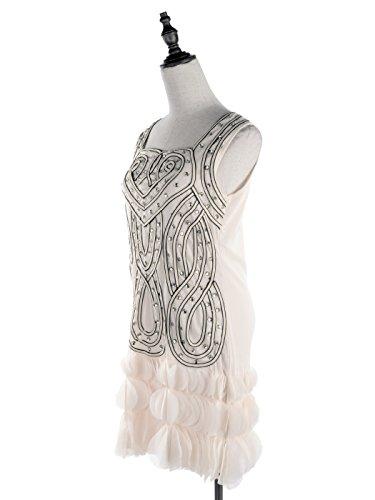 c1443a649 Anna-Kaci Womens Glam Beaded Heart Deco Petal Hem Flapper Inspired ...