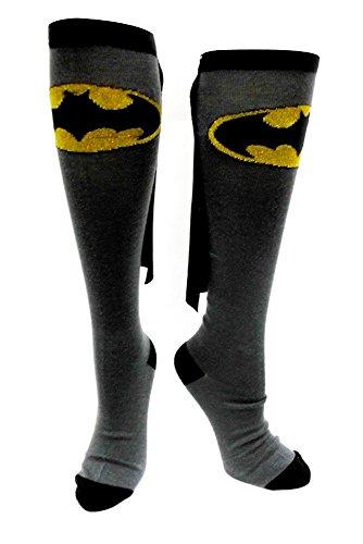 Bioworld - Calze al ginocchio Batman, colore: Grigio/Nero