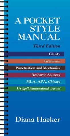 A Pocket Style Manual (Writing Guides), Diana Hacker