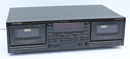 Optimus SCT 56 Professional Dual Auto Reverse Cassette Tape Deck