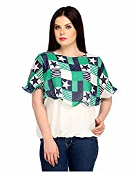 Snoby Blue Stylish Polyester Top for Women (SBY1000)