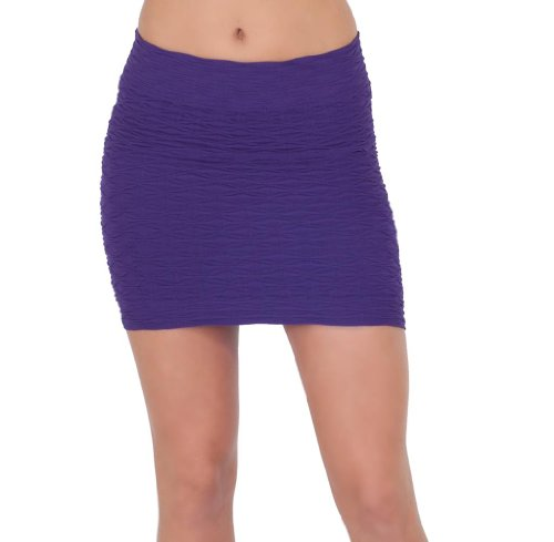 Seamless Textured Fitted Clubwear Cocktail Evening Date Night Mini Party Skirt Image