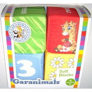 Garanimals Soft Blocks Featuring Numbers, Colors, & Pictures - 1