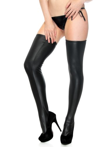 Simplicity Women Lady Sexy Black Thigh High Stockings