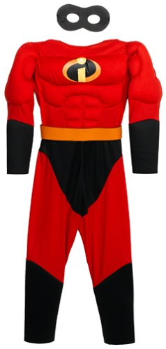 The Incredibles: Mr. Incredible Muscle Chest Child Costume Size 4-6