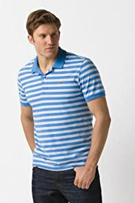 Glc Short Sleeve Jersey Stripe Polo Shirt