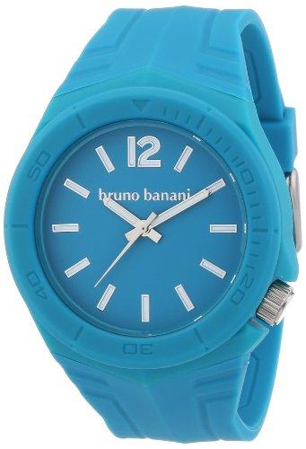 Bruno Banani - BR21054 - Montre Mixte - Quartz Analogique - Bracelet Plastique Bleu