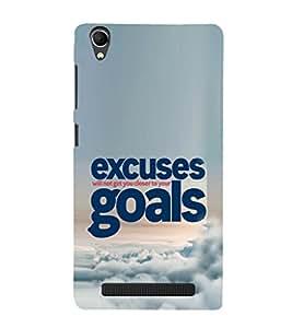 EPICCASE No Excuses for Success Mobile Back Case Cover For Intex Aqua Power Plus (Designer Case)