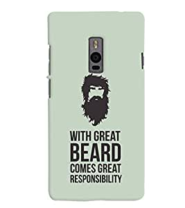 ColourCrust OnePlus 2 Mobile Phone Back Cover With Beard Quote Quirky - Durable Matte Finish Hard Plastic Slim Case