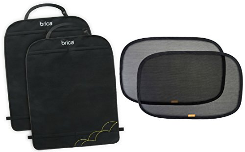 2 Pack Brica Deluxe Kick Mat Back Seat Protectors With Window Shades front-408069