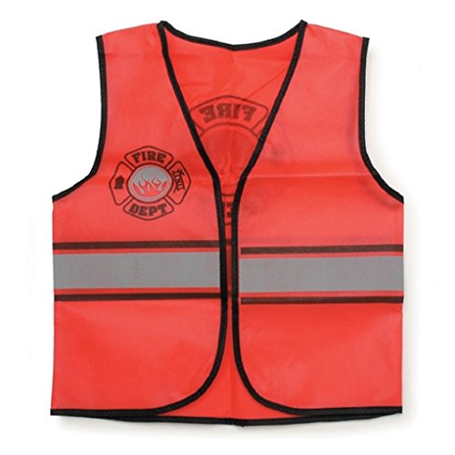 Childrens Dress Up Vest - 6 Professions to Choose From Style:Fire Fighter