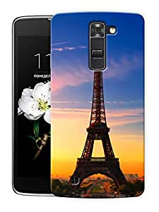 """Eiffel Tower Beautiful Scenery - Paris Printed Designer Mobile Back Cover For """"LG K7"""" By Humor Gang (3D, Matte Finish, Premium Quality, Protective Snap On Slim Hard Phone Case, Multi Color)"""