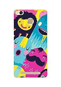 100 Degree Celsius Back Cover for REDMI 3S Prime (Designer Printed Multicolor)