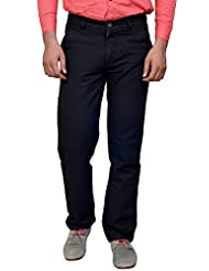 Ever Blue Men's Regular Fit Trouser