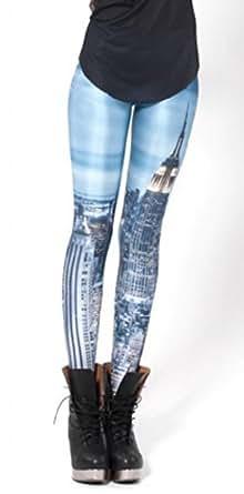 Sunnydate Women's New 2014 Fashion Leggings New York city at night