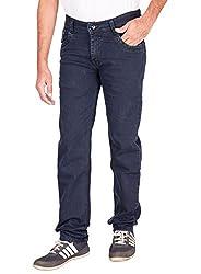 Fame Denim Lycra Regular Fit Casual Man's Navy Blue Jeans