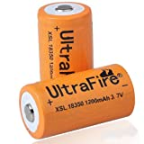 UltraFire 18350 3.7V 1200mAh Rechargeable Batteries Battery (Pair)