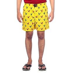 Aaduki Men's Cotton Shorts_Yellow-XL