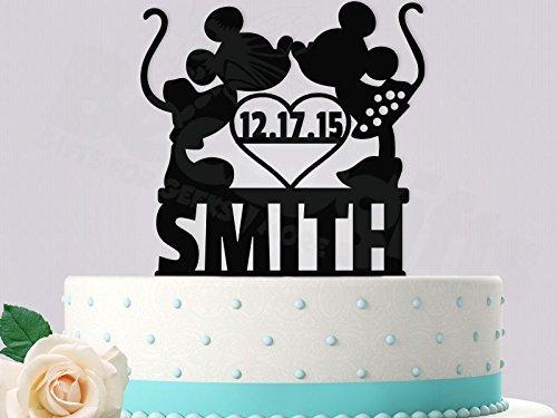 Mickey and Minnie Customized Wedding Cake Topper