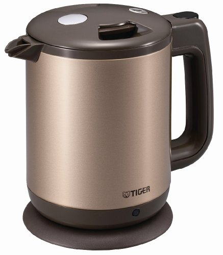 Tiger Electric Kettle 0.8 L (Fluorine Processing Containers) Champagne Gold Pcd-A080-Ne