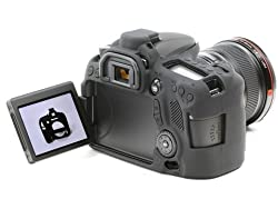 Easy Cover Compatible With Canon 70D Black Camera Case